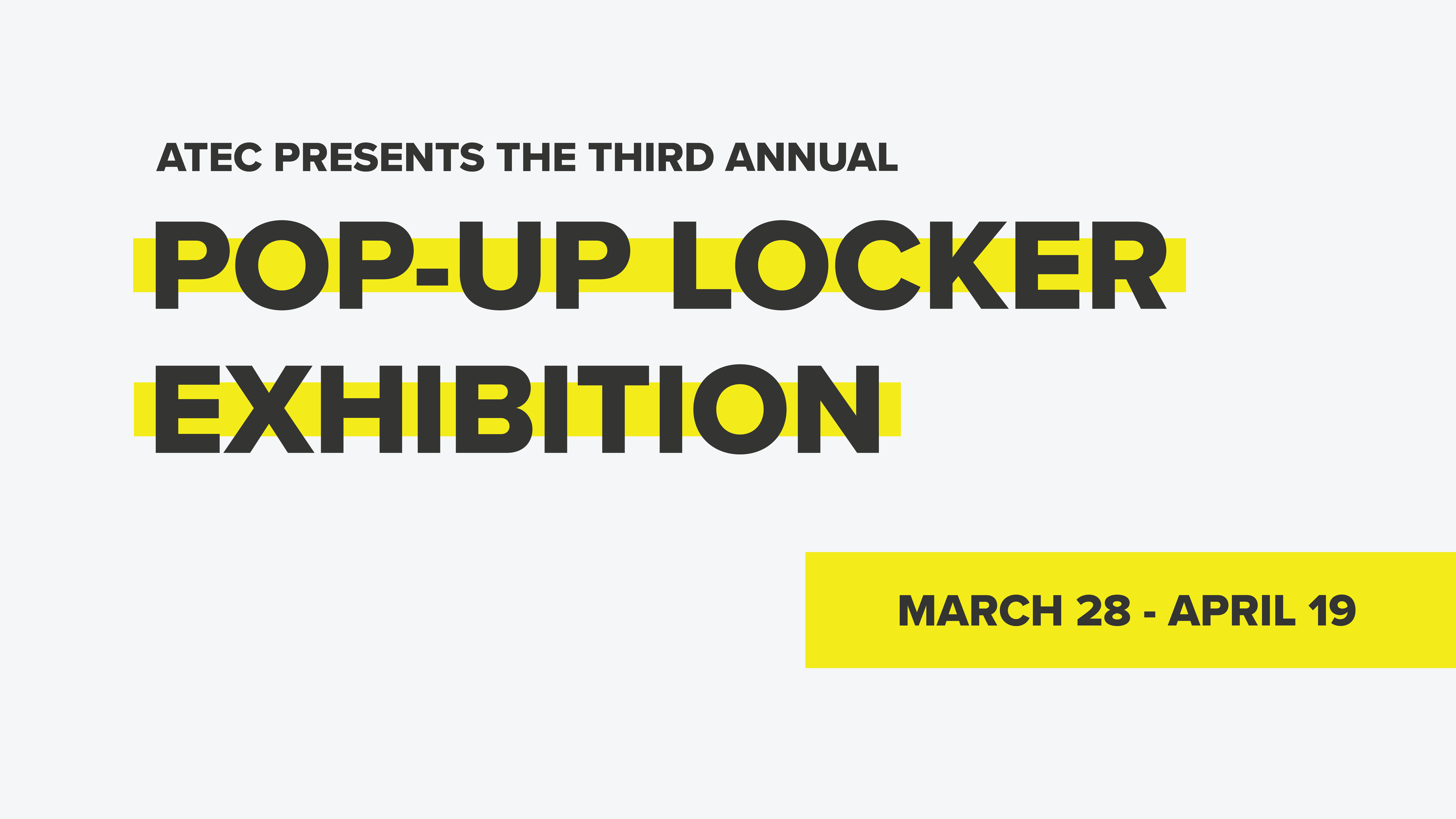 Pop Up Locker Event