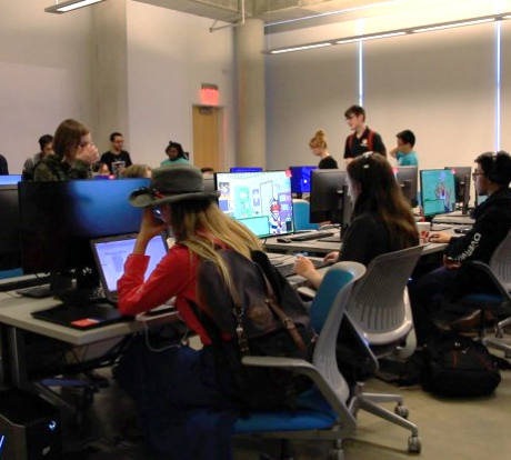 ATEC students in the Game Lab
