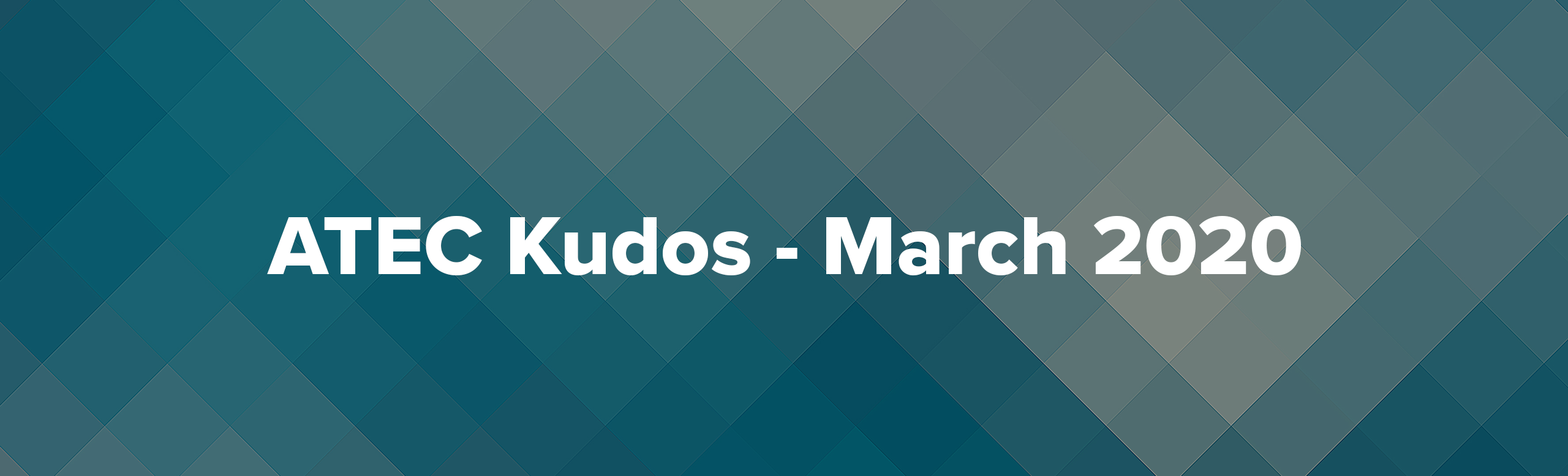 March Kudos Header