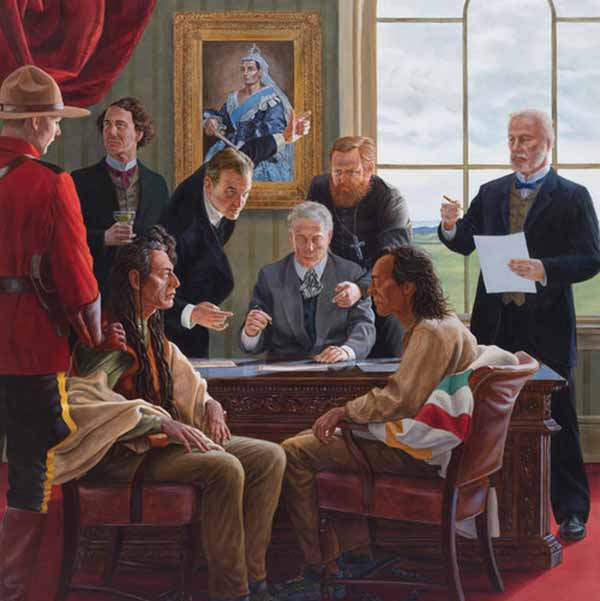 A painting by Kent Monkman