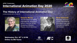 International Animation Day 2020. A Discussion with guests Deanne Morse and Brad Yarhouse