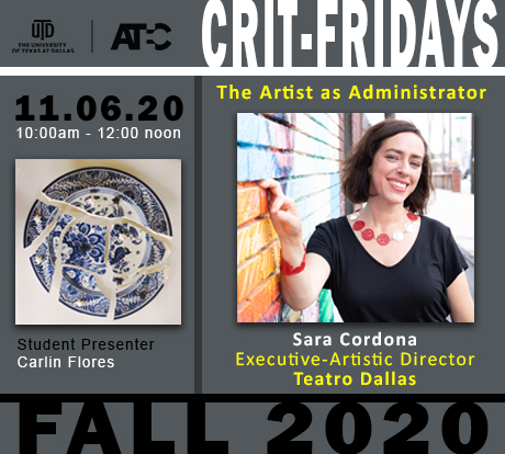 Crit Firday, Sara Cardona. 11.06.20. The Artist as Administrator
